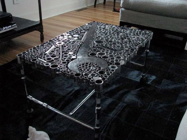 Incredible Man Cave Furniture Gear Tool Coffee Table
