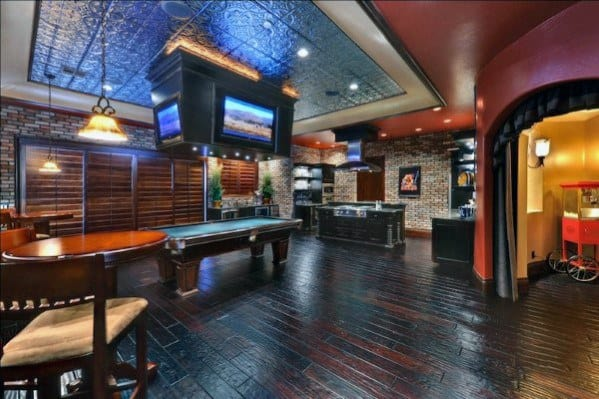 Incredible Mens Basement Man Cave Designs