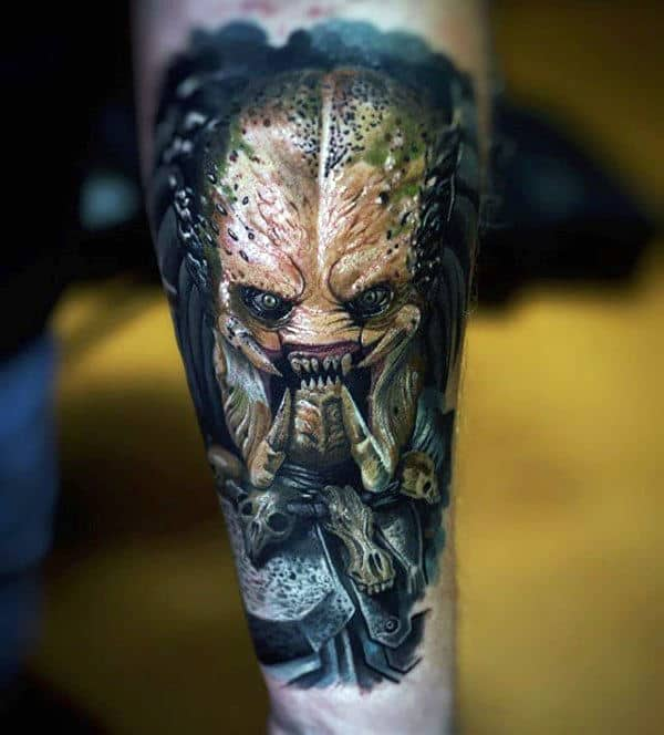 Incredible Mens Inner Forearm Predator Tattoos