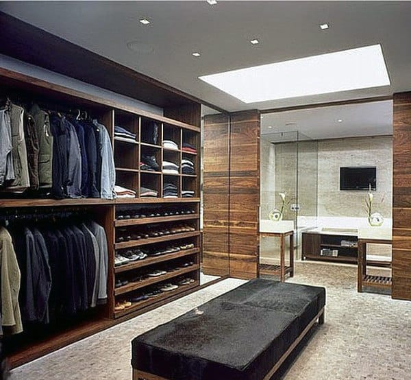 Incredible mens interior closet design ideas