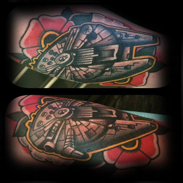 Incredible Millennium Falcon Tattoos For Men