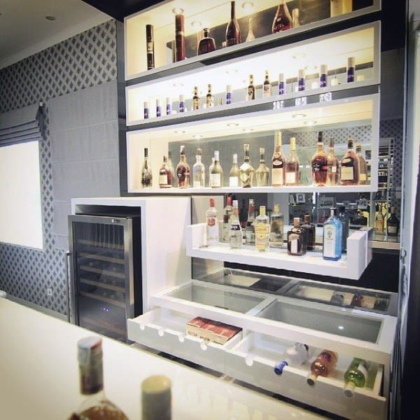 Incredible Mini Bar Designs With Pull Out Drawers