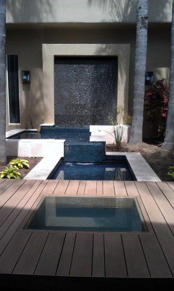Incredible Modern Backyard Waterfalls