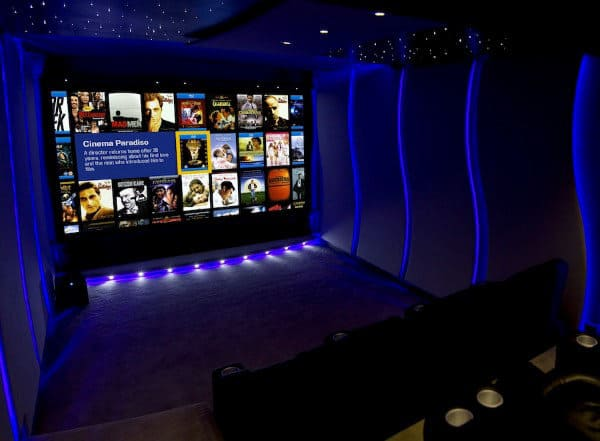 Incredible Neon Home Theater Lighting Display