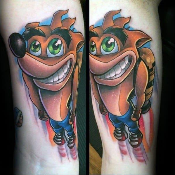 40 Crash Bandicoot Tattoo Designs For Men