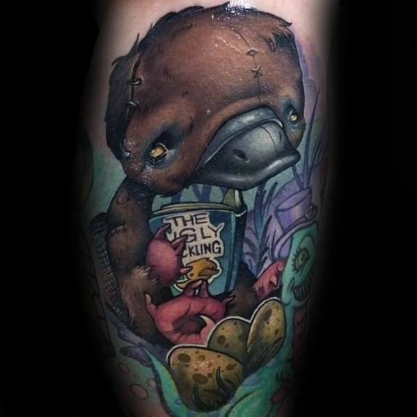 Incredible New School Egl Platypus Tattoos For Men