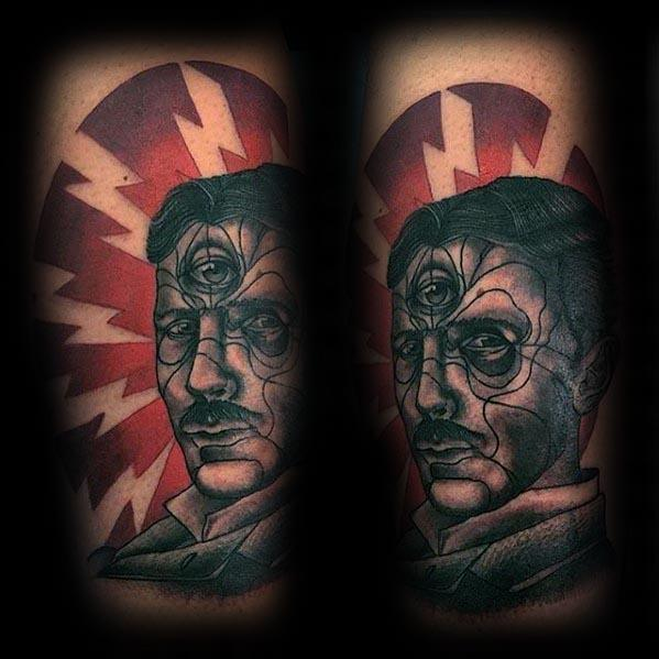 Incredible Nikola Tesla Tattoos For Men