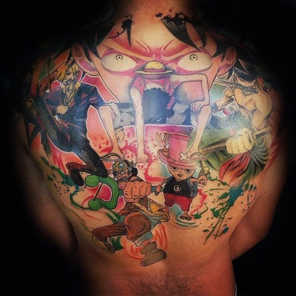 70 One Piece Tattoo Designs For Men - Japanese Anime Ink Ideas