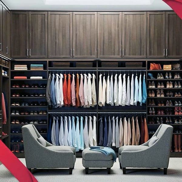 Incredible Organized Male Closet Inspiration