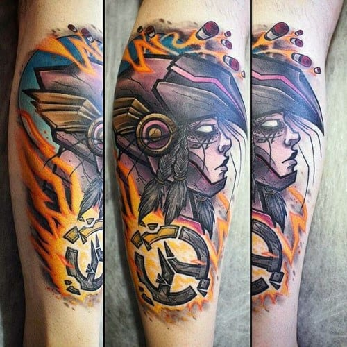 40 overwatch tattoo designs for men video game ink ideas. Black Bedroom Furniture Sets. Home Design Ideas
