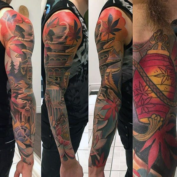 Incredible Pagoda Tattoos For Men