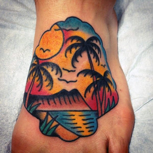 Incredible Palm Tree Tattoo On Hands For Men