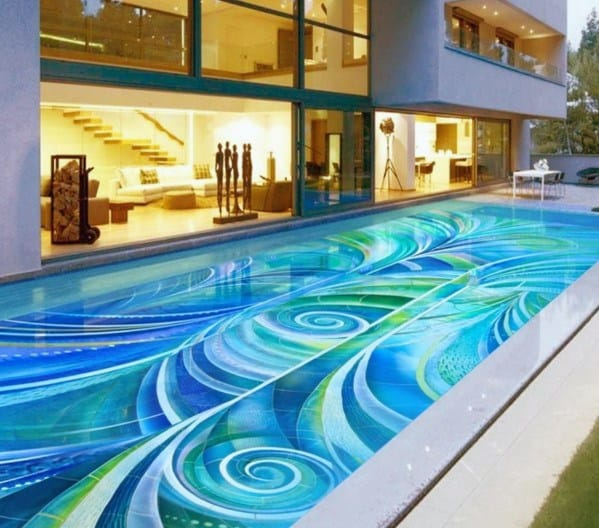 Top 60 Best Home Swimming Pool Tile Ideas - Backyard Oasis ...