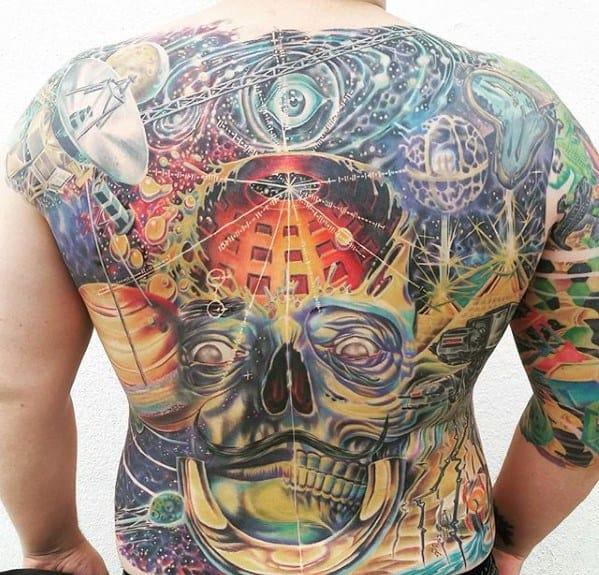50 Pulsar Map Tattoo Designs For Men Pioneer Plaque Ink