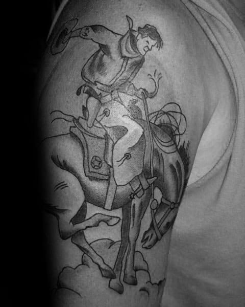 Incredible Rodeo Tattoos For Men