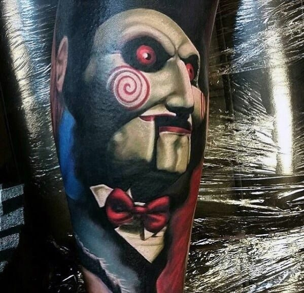 Incredible Saw Horror Movie Tattoos For Men