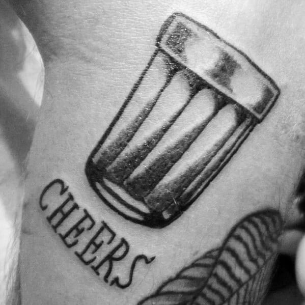 Incredible Shot Glass Tattoos For Men