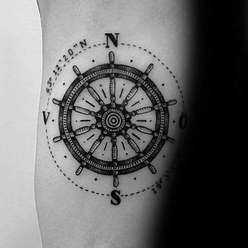 Incredible Simple Compass Tattoos For Men
