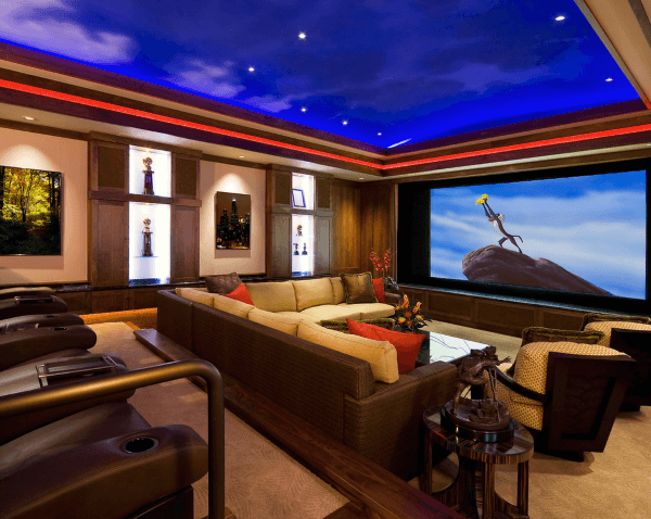 Incredible Sky With Clouds Home Theater Design Inspiration
