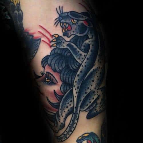 Incredible Snow Leopard Tattoos For Men