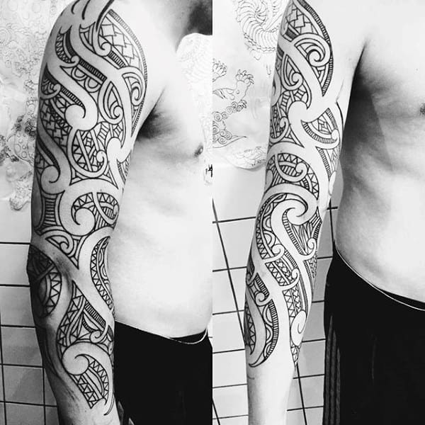 Incredible Tattoo Half Sleeve Tribal Mens Ideas