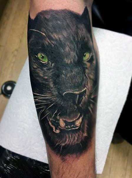 Incredible Tattoos Of Black Panthers For Males