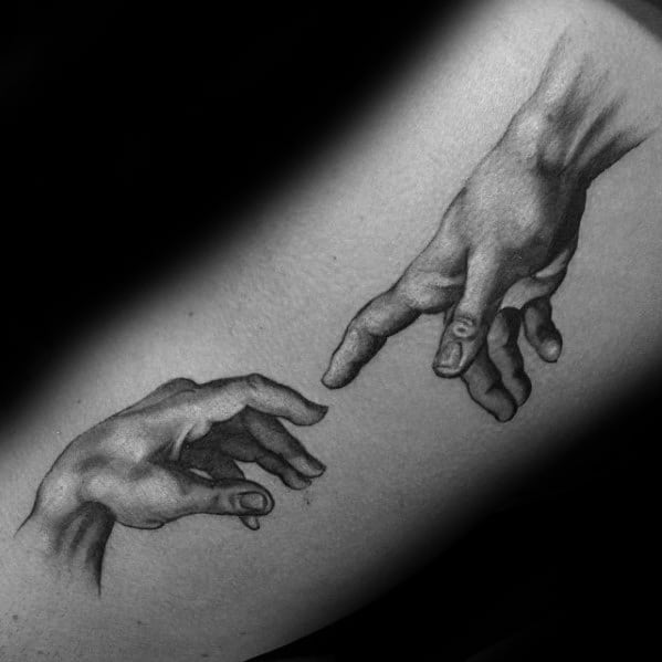 Incredible The Creation Of Adam Tattoos For Men On Arm