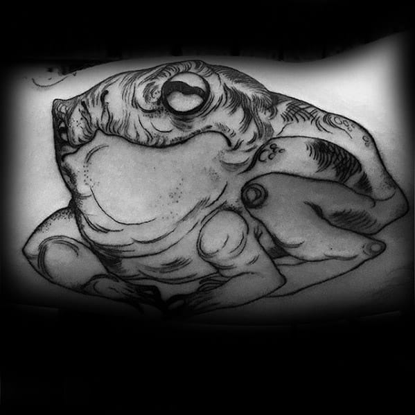 Incredible Toad Tattoos For Men On Inner Arm Bicep