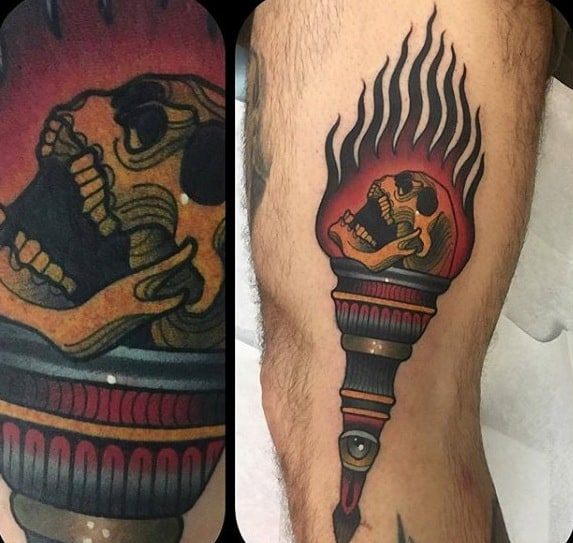Incredible Torch Tattoos For Men