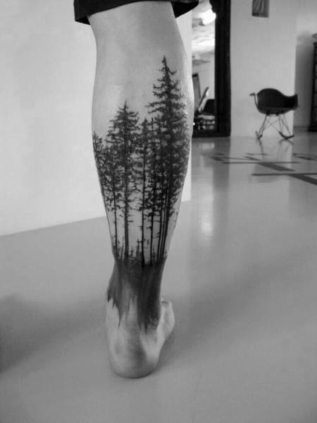 Incredible Tree Leg Tattoos For Men