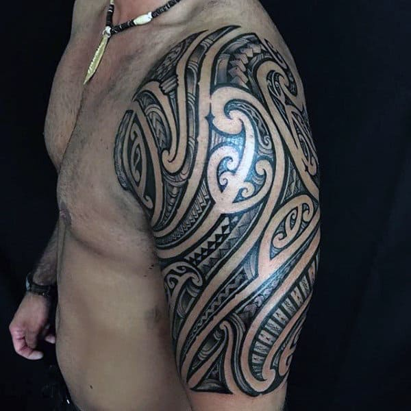Incredible Tribal Half Sleeve Tattoos For Men