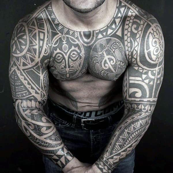 80 tribal shoulder tattoos for men masculine design ideas for Tattoo ideas men shoulder