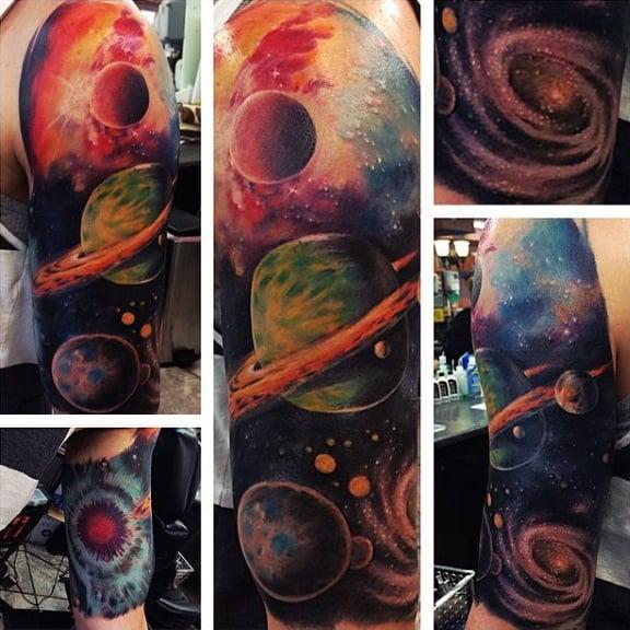 75 Universe Tattoo Designs For Men