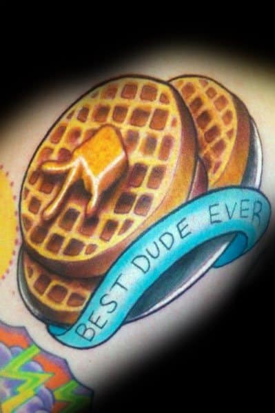 Incredible Waffle Tattoos For Men