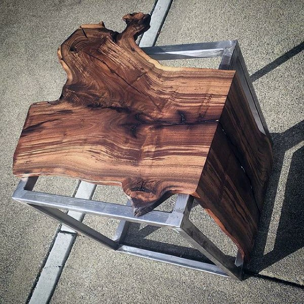 Incredible Wood Wrapped Over Steel Man Cave Decor Table