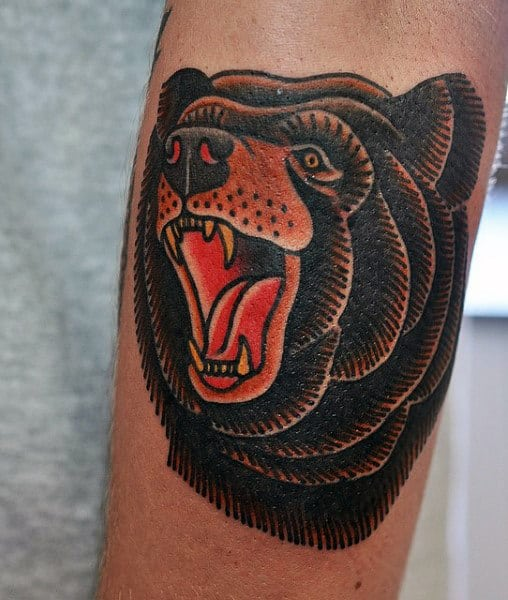 Indian Bear Tattoo For Guys