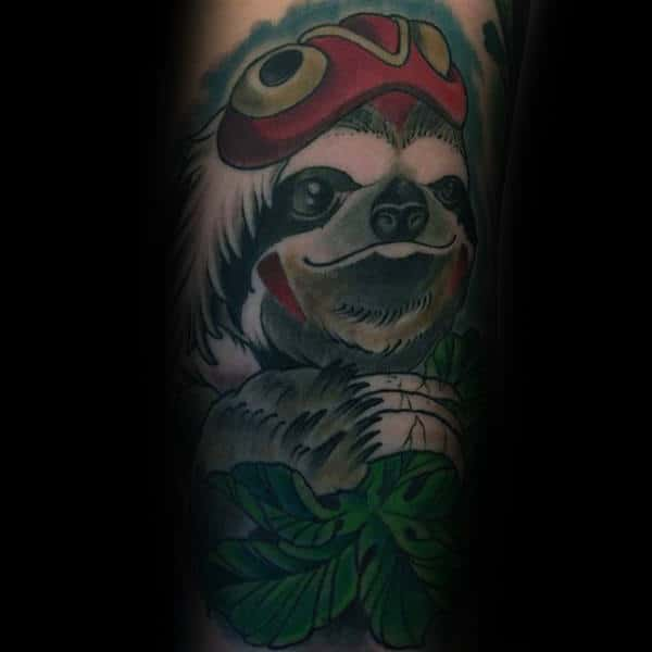 Indian Sloth Mens Arm Tattoos