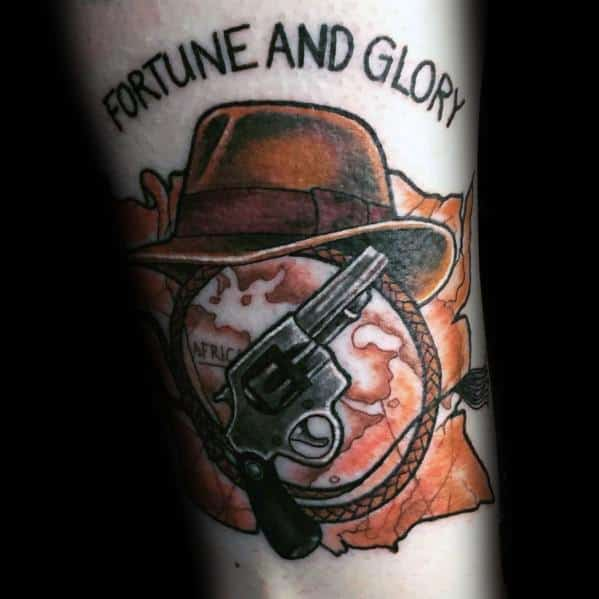 Indiana Jones Tattoos For Gentlemen