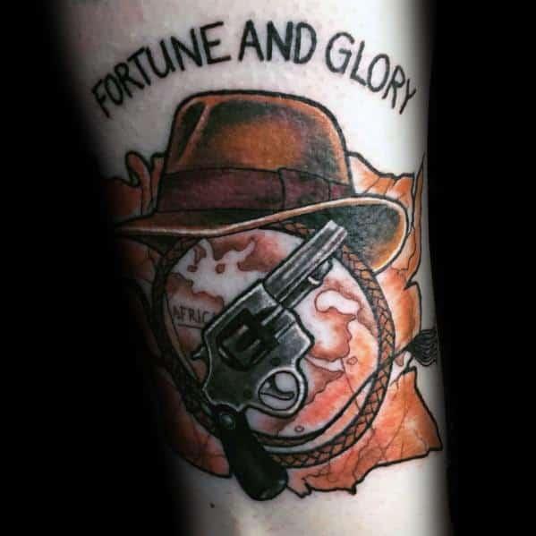 Indiana Jones Tattoos For Gentlemen