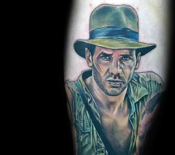 Indiana Jones Themed Tattoo Design Inspiration
