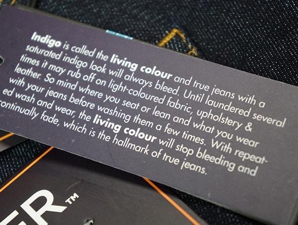Indigo Duer Mens Jeans Detail