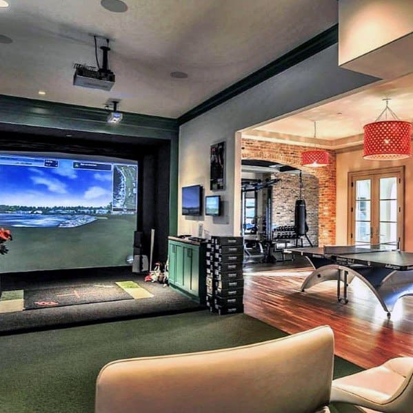 Indoor Golf Range Awesome Man Caves Room Ideas