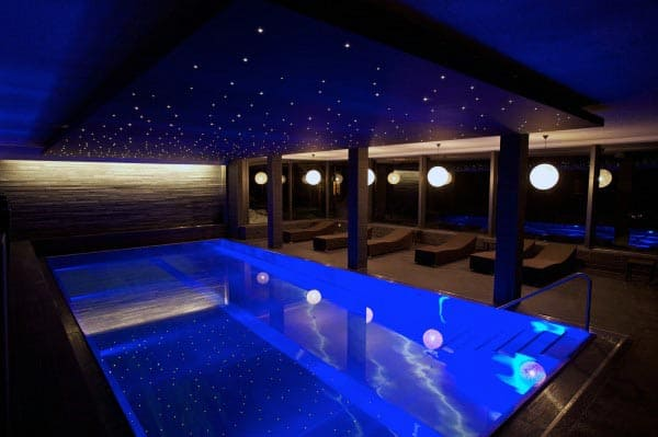 Indoor Home Swimming Pool With Light Up Star Ceiling