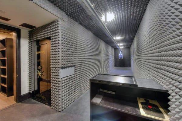 Indoor Shooting Pistol Range In Basement Of Home