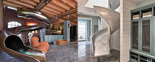 Top 70 Indoor Slide Ideas – Skip The Boring Staircase