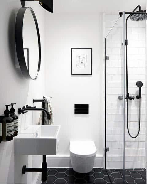 small black and white bathroom ideas