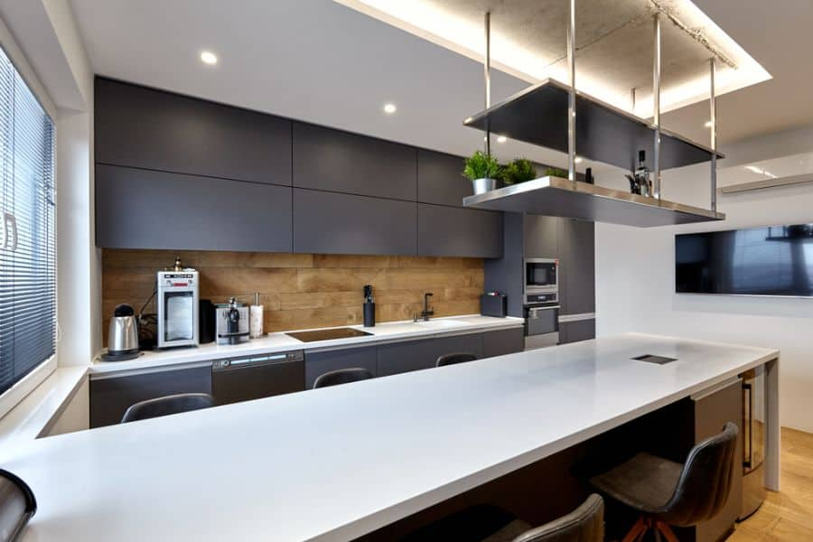 Industrial Black And White Kitchen 1