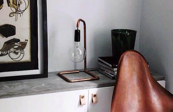 Industrial Copper Pipe Lamp Man Cave Decor Designs