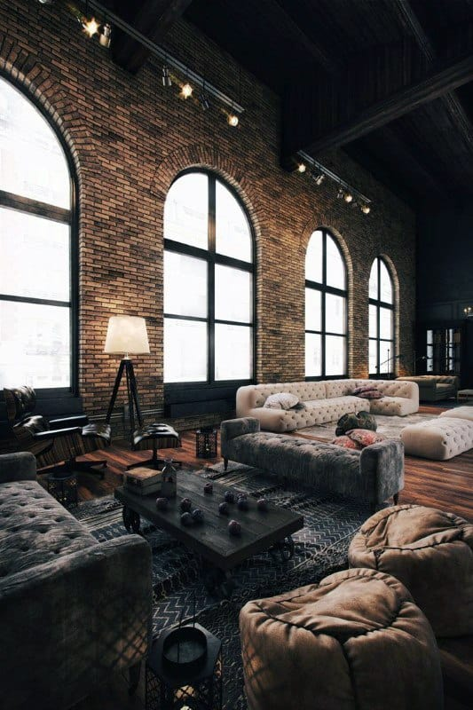 Industrial Design Home Interior Top 50 Best Ideas  Raw Decor Inspiration