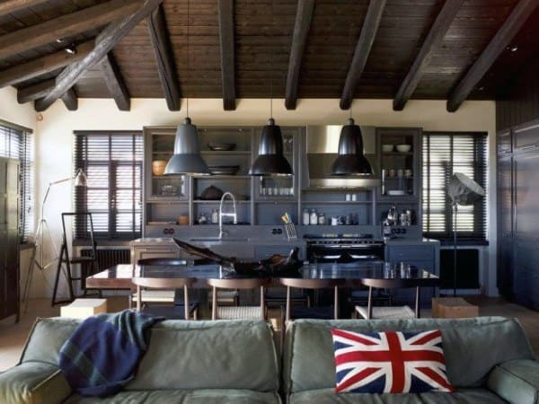 Industrial Interior Design Kitchen And Living Room